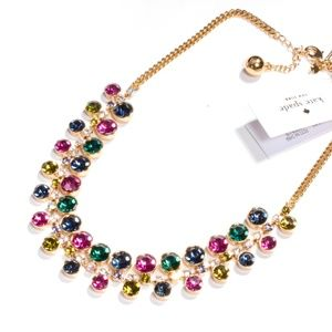 kate spade rainbow crystal statement necklace